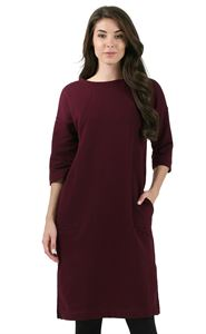 """Picture of Maternity and nursing  Dress """"Leontiya"""" ; color: Marsala"""