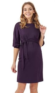 "Picture of ""Gretchen"" Maternity dress; color: eggplant"