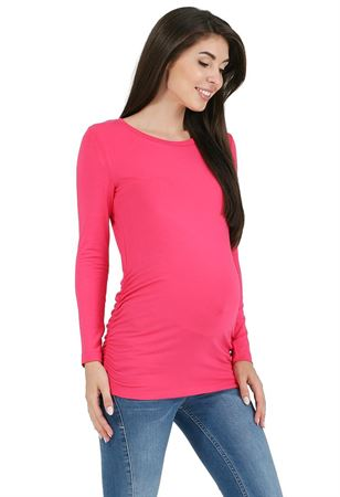 """Obrázek z Tričko s dlouhým rukávem """"Maya"""" pro těhotné; barva: azalea"""