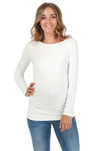 "Picture of Maternity T-shirt long sleeve ""Maya""; color: milk"
