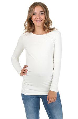 """Obrázek z Tričko s dlouhým rukávem """"Maya"""" pro těhotné; barva: mléčná"""