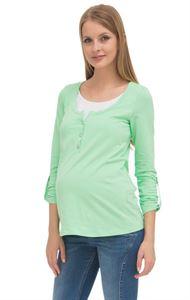 """Изображение Лонгслив """"Джэй""""  для беременных и кормящих; цвет: яблочный"""