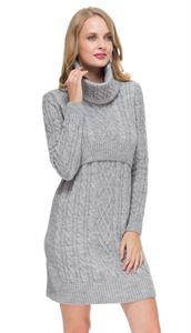 "Picture of ""Label"" Maternity  and nursing Dress; color; gray melange"