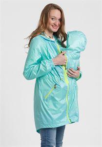 """Obrázek Plášť 3в1 """"Jane"""" pro těhotenství a nošení dítěte v dětské přenositelnost pod bundu, barva: Aqua"""
