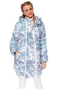 """Picture of Winter Jacket 2in1 """"Utah"""" for pregnant women, normal; color: Paisley on white"""