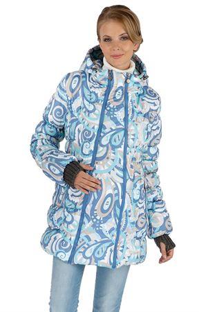 """Obrázek z Zimní bunda 2 v 1 """"Malta"""" modrá vzor pro těhotné, normální"""