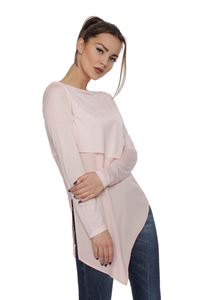 Image de Cardigan FH29824 allongé couleur: rose pâle