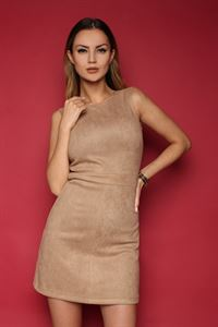 Picture of Dress FH30068 a suede color: beige
