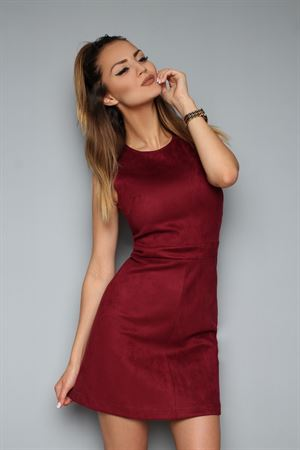 Picture of Dress FH30278 a suede color: Marsala