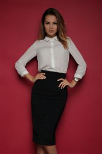 Picture of Skirt FH30070 color: black jacquard