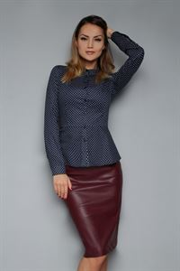 Picture of Skirt FH30086 eco leather color: Marsala