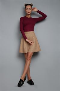 Picture of Skirt FH30312 eco suede color: beige