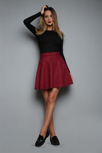 Picture of Skirt FH30313 eco suede color: Marsala