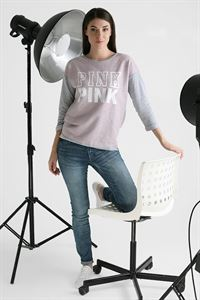 "Picture of Sweatshirt ""Evelina"" pink print color: pink"
