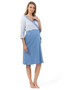 """Bild von """"Batista"""" Umstandsset/Stillset für dem Entbindungsheims; Farbe: blau"""