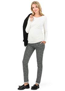 """Obrázek Kalhoty """"Klerk"""" pro těhotné; barva: tmavě šedá"""