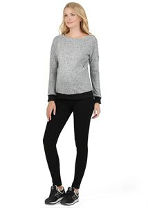 "Picture of ""Catherine"" Maternity black insulated leggings"