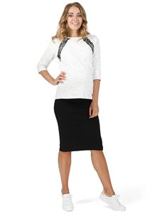 "Picture of ""Salome""  Maternity black skirt 2 in 1"