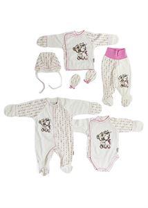 Bild von Set für ein Neugeborenes, 6 Artikel; Farbe: rosa