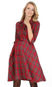 "Picture of ""Constance"" Maternity and nursing dress ; color: red"