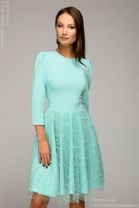 Picture of Mini length mini dress DM00926MN with decorative trim; color: mint