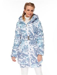 "Picture of Winter Jacket ""Utah""; color: Paisley on white"