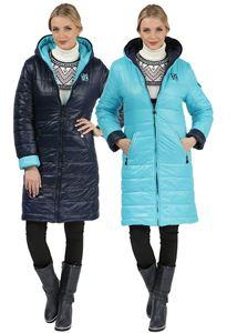 Изображение Куртка демисезон/зима Laura Bruno двухсторонняя сине-голубая