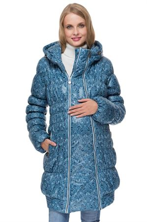 """Picture of Winter jacket 3in1 """"Hague"""" color: blue with a pattern"""