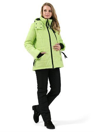 """Изображение Зимний комплект: куртка и брюки 2 в 1 """"Ванкувер"""" Лайм для беременных, обычный"""