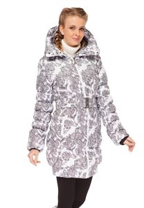"Picture of Winter jacket  ""Iceland"" color: flowers on white"