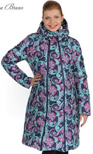 Picture of Winter jacket 3in1 Laura Bruno №1 blue-pink for pregnant women and slingowearing