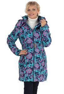 Изображение Зимняя куртка Laura Bruno №2 сине-розовая