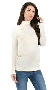 Picture of Maternity and nursing turtleneck Universal milky