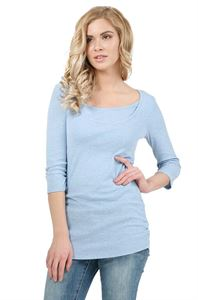 "Picture of ""Elmira""  Maternity And Nursing Long Sleeve T-Shirt: color: denim"