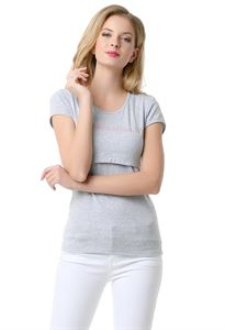 Picture of Nursing T-shirt FH03; color: gray mélange