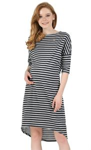 """Picture of """"Naples"""" Maternity Tunic; color: gray melange / black"""