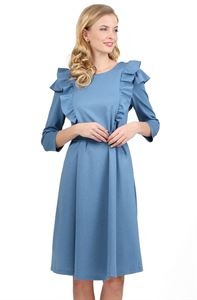 "Picture of ""Evelina"" Maternity and nursing dress; color: blue mélange"