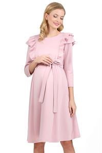 "Picture of ""Evelina"" Maternity and nursing dress; color: pink"