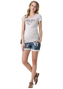 "Picture of ""Hudson"" Maternity shorts ; colour: blue denim"