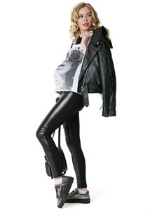 """Picture of Trousers """"French"""" for pregnant women, usual; color: black / eco-leather"""