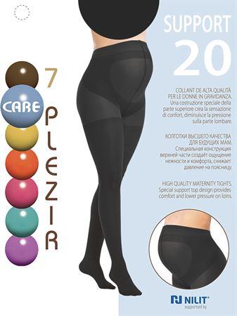 [translate] Изображение Collant pour femme enceinte 20 DEN avec insert spécial Support 7 PLEZIR; couleur: noir