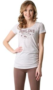 "Picture of ""Alabama"" Maternity T-Shirt; color: beige melange"