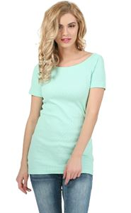 "Picture of T-shirt ""Diva"" for pregnant women; color: menthol"