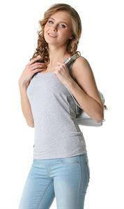 """Obrázek Tričko МН01 """"Klasická"""" pro kojící; barva: šedá melanž"""