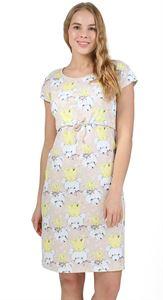 """Bild von """"PH05"""" Melange Umstandskleid/Stillkleid ; Farbe: beige"""