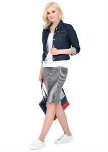 """Picture of Skirt """"Stripe"""" for pregnant women gray melange black"""
