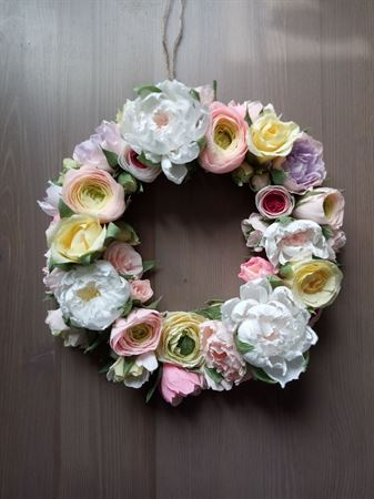 """Picture of Decorative wreath """"spring flowers"""""""