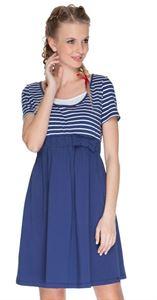 """Obrázek Šaty """"Csantia"""" modré s pruhem pro těhotné a kojící"""