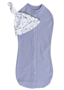 "Picture of Swaddling cocoon ""I love mum""; color:  lavender / white"