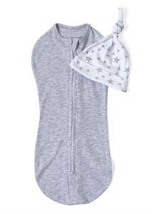 "Picture of Swaddling cocoon ""I love mum""; color:  gray mélange"